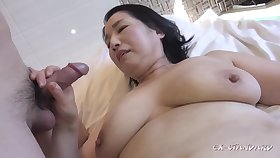 Fat asian GILF crazy sex glaze