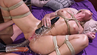 Horny fetish, squirting adult movie with crazy pornstars Simone Sonay and Mona Wales from Whippedass