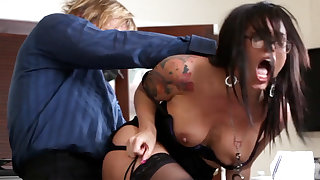 Naughty office ass-istant fucks her mature boss