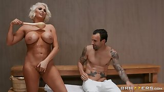 Kristina Shannon eats friend's fat penis like vanilla ice cream in the spa