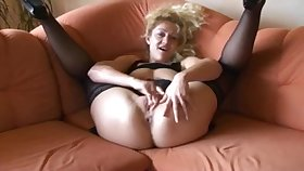 Dirty talk deutsch blonde pleasing her tight pussy till tingle gets wet