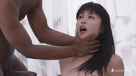 Tall Asian Mommy Gets Beamy Black Cock Double Fuck - marica hase