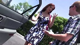 Red haired mature cookie with fake boobs Syren De Mer bangs duo nerd dude