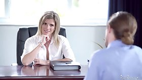 Unforgettable sex in the office with smoking hot female boss Cory Chase