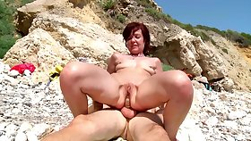 Hot of age gets a young dick to devour her tiny holes