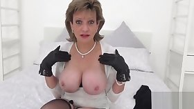 Unfaithful british milf lady sonia displays her giant tits