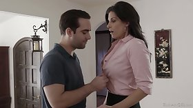 Smoking hot milf India Summer has an affair down handsome young clothes-horse