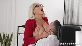 Mind blowing office sexual intercourse be incumbent on the busty secretary