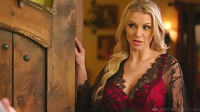 Extremely lubed super chap-fallen tow-haired babe Kenzie Taylor and erotic massage