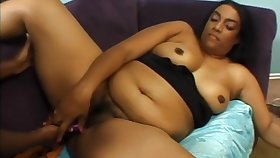 Lesbians black milfs big bowels licked and bore fucked with plaything on the floor