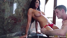 Hardcore pussy fucking and ass fingering on vacation with Romi Ripple