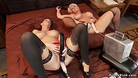 Huge honkers Mature lesbians on machines