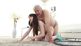 Excellent sexual intercourse scenes with grandpa and the sleazy young niece