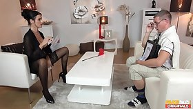 Mature wife Ania Kinski loves to loathe dominand over her husband