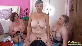 OldNannY Twosome British Matures and Sexual connection Appliance